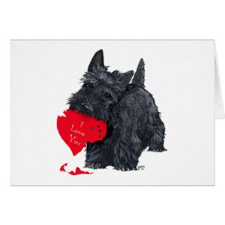 Tarjeta del día de San Valentín de Terrier del