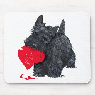 Tarjeta del día de San Valentín de Terrier del esc Alfombrilla De Ratón