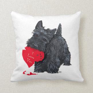 Tarjeta del día de San Valentín de Terrier del esc Cojin