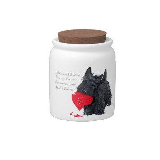 Tarjeta del día de San Valentín de Terrier del esc Jarras Para Caramelos
