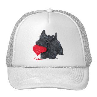 Tarjeta del día de San Valentín de Terrier del esc Gorras De Camionero