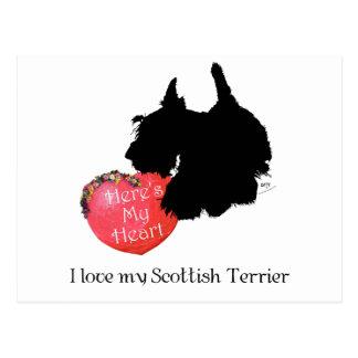 Tarjeta del día de San Valentín de Terrier del esc Postal