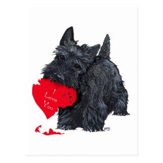 Tarjeta del día de San Valentín de Terrier del esc Tarjeta Postal