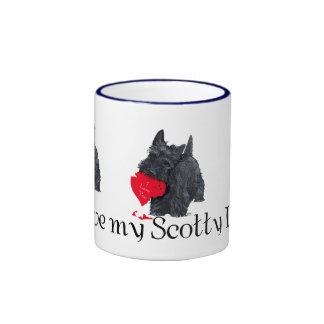 Tarjeta del día de San Valentín de Terrier del esc Tazas