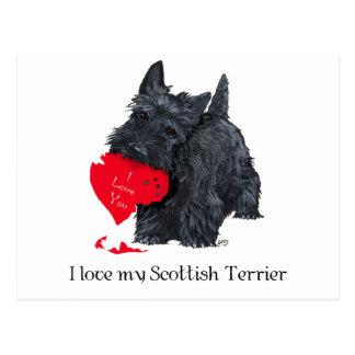 Tarjeta del día de San Valentín de Terrier del Postal