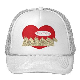 Tarjeta del día de San Valentín de trigo de los es Gorra