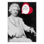 Tarjeta del día de San Valentín de Twain