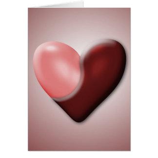 Tarjeta del día de San Valentín de Yin y de Yang
