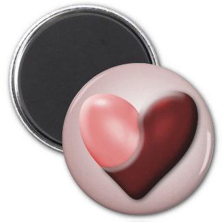 Tarjeta del día de San Valentín de Yin y de Yang Imán Redondo 5 Cm
