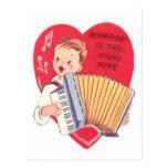 Tarjeta del día de San Valentín del acordeón Tarjeta Postal