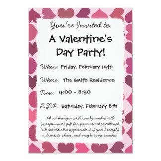 """""""Tarjeta del día de San Valentín del amor de la Invitación 5"""" X 7"""""""