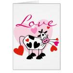 Tarjeta del día de San Valentín del amor de Mooey