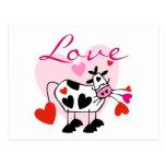 Tarjeta del día de San Valentín del amor de Mooey Postal