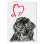 Tarjeta del día de San Valentín del amor del perro