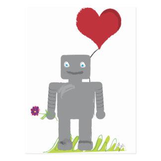 Tarjeta del día de San Valentín del amor del robot Tarjeta Postal