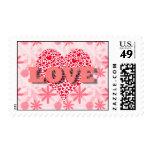 tarjeta del día de San Valentín del amor Sellos