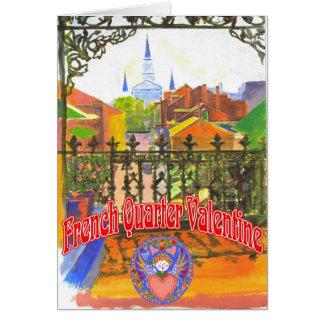 Tarjeta del día de San Valentín del barrio francés
