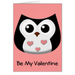 Tarjeta del día de San Valentín del búho del amor