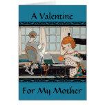 Tarjeta del día de San Valentín del chica del niño