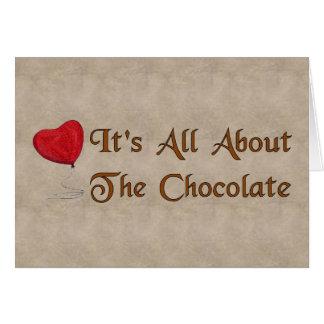 Tarjeta del día de San Valentín del chocolate