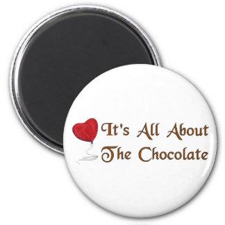 Tarjeta del día de San Valentín del chocolate Imán Redondo 5 Cm
