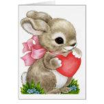 Tarjeta del día de San Valentín del conejito de la