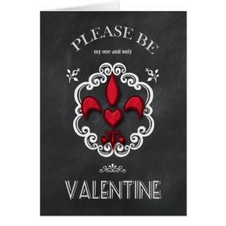 Tarjeta del día de San Valentín del corazón de la
