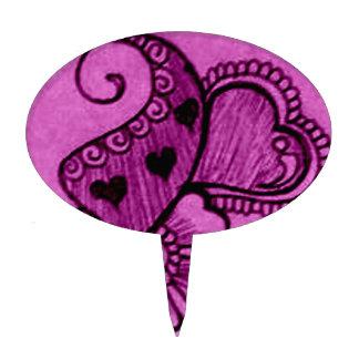 tarjeta del día de San Valentín del corazón de la  Figura Para Tarta