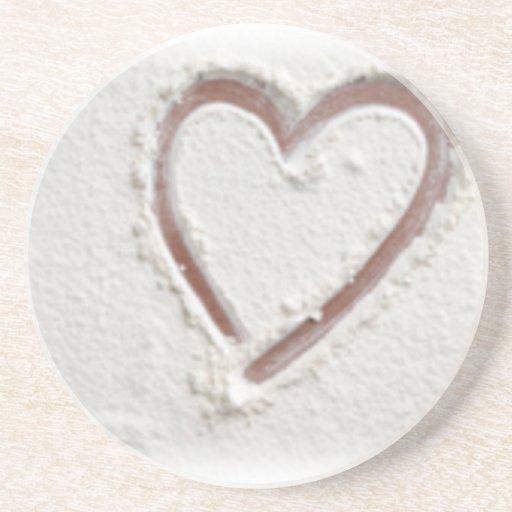 Tarjeta del día de San Valentín del corazón de la Posavasos Diseño