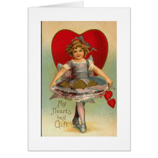 Tarjeta del día de San Valentín del corazón del