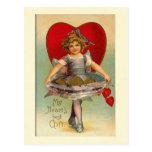 Tarjeta del día de San Valentín del corazón del ch Postal