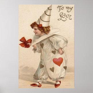 Tarjeta del día de San Valentín del corazón del Póster