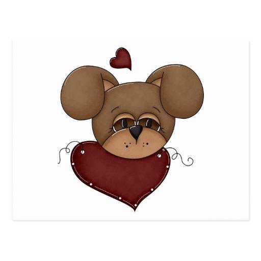 tarjeta del día de San Valentín del corazón del Tarjetas Postales