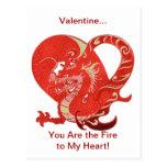 Tarjeta del día de San Valentín del corazón del Postal