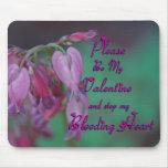 Tarjeta del día de San Valentín del corazón sangra Alfombrilla De Ratón