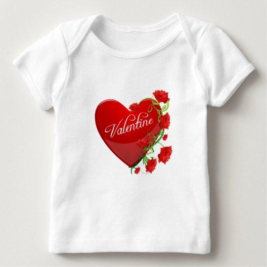 Tarjeta del día de San Valentín del corazón y de Playera De Bebé