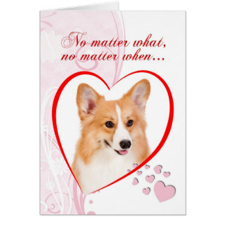 Tarjeta del día de San Valentín del Corgi