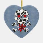 Tarjeta del día de San Valentín del cráneo de la Ornamento De Reyes Magos