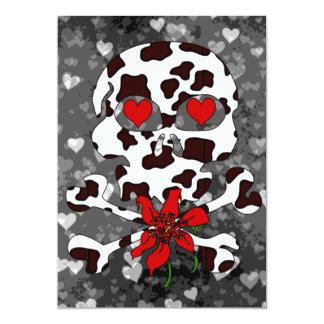 """Tarjeta del día de San Valentín del cráneo de la Invitación 5"""" X 7"""""""