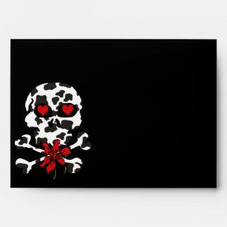 Tarjeta del día de San Valentín del cráneo de la v