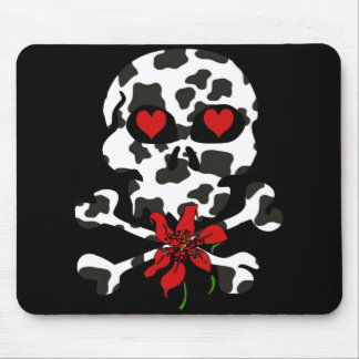 Tarjeta del día de San Valentín del cráneo de la v Alfombrillas De Ratón