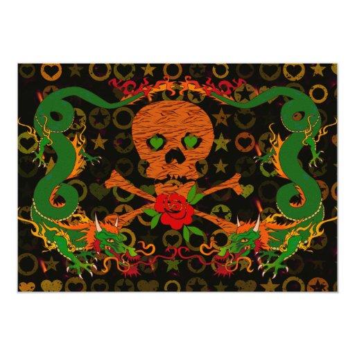 """Tarjeta del día de San Valentín del cráneo del Invitación 5"""" X 7"""""""