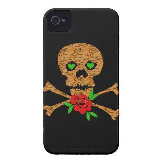 Tarjeta del día de San Valentín del cráneo del tig Case-Mate iPhone 4 Fundas
