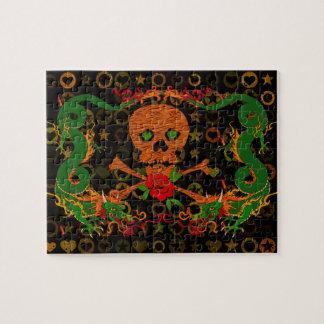 Tarjeta del día de San Valentín del cráneo del tig Puzzle Con Fotos
