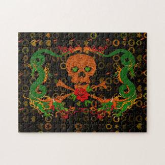 Tarjeta del día de San Valentín del cráneo del tig Puzzles Con Fotos