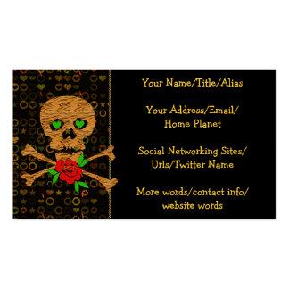 Tarjeta del día de San Valentín del cráneo del tig Tarjeta De Visita