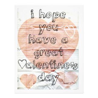 """Tarjeta del día de San Valentín del cuaderno Folleto 8.5"""" X 11"""""""