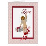 Tarjeta del día de San Valentín del Cupid del