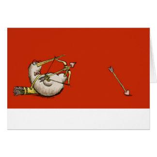 Tarjeta del día de San Valentín del Cupid del kiwi