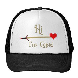 Tarjeta del día de San Valentín del Cupid Gorra